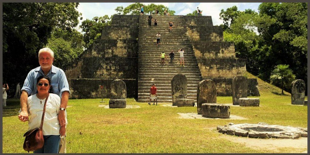 Willem and Monica at the famed ancient Maya city of Tikal, Guatemala.