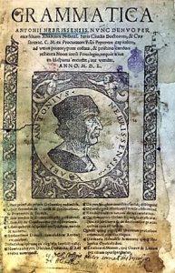 First grammar book for an European language - Spanish, 1492