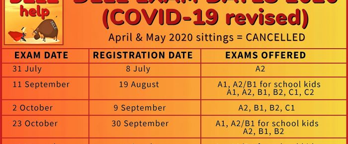 Revised 2020 DELE exam dates